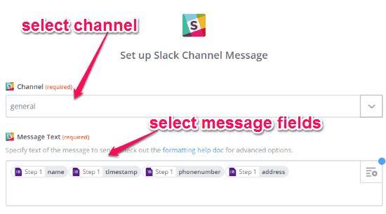 edit message template