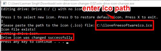 enter ico file path to change drive icon