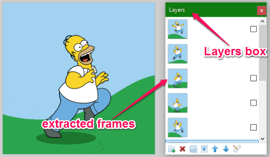 extracted frames