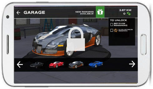 extreme car driving simulator garage of sport car