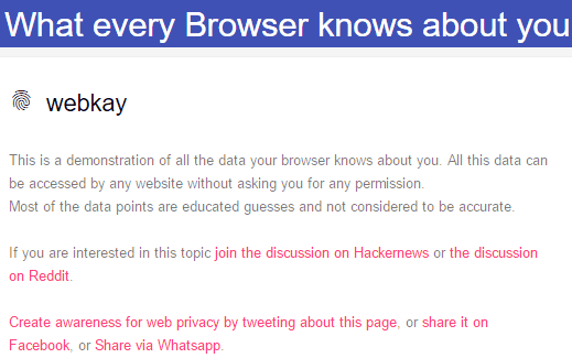 find out what browser knows about you