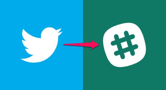 get slack notification for twitter followers