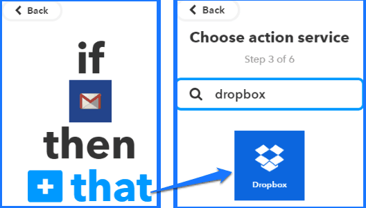 how to automatically backup gmail to dropbox as txt file- select dropbox