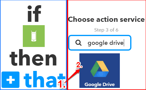 how to log android wifi connection history to google drive- choose an action service