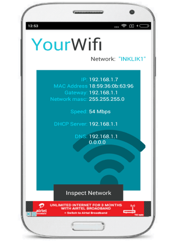 how to view devices connected to a WiFi network- wifi inspector- main interface