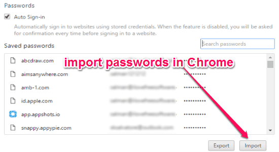 How to Export Chrome Passwords to CSV, Import Password in Chrome