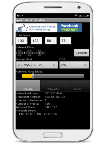 ipv4 Subnet Calculator- android ip subnet calculator