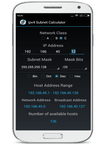 ipv4 Subnet Calculator- android ip subnetwork calculator