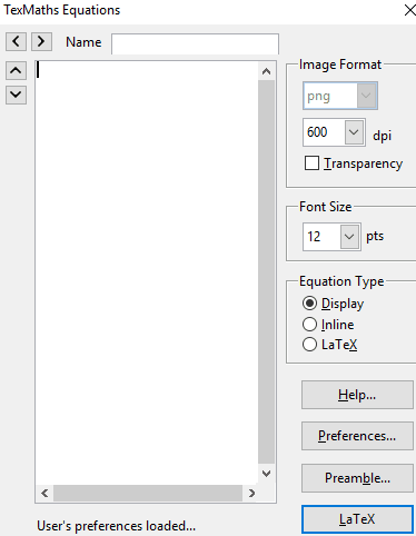 latex equation editor- texmaths