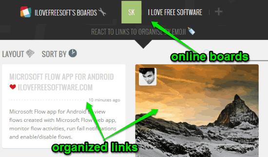organize links