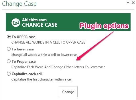 plugin options
