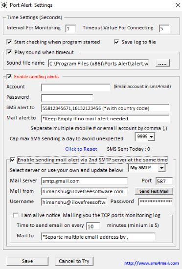 port alert-settings