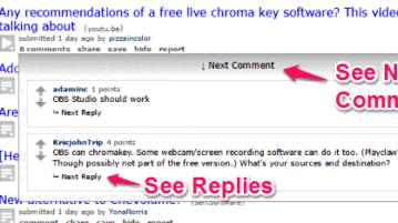Reddit Comments Popup