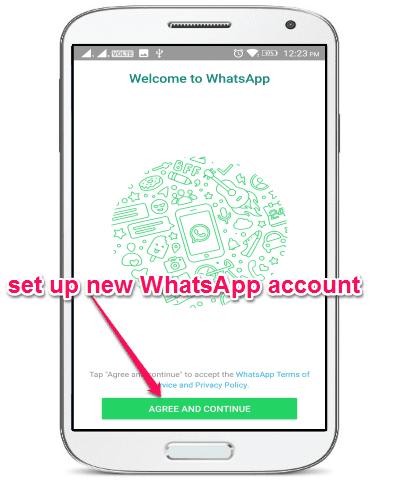 set up whatsapp