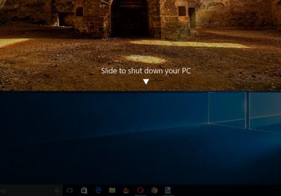 shut down screen in Windows 10
