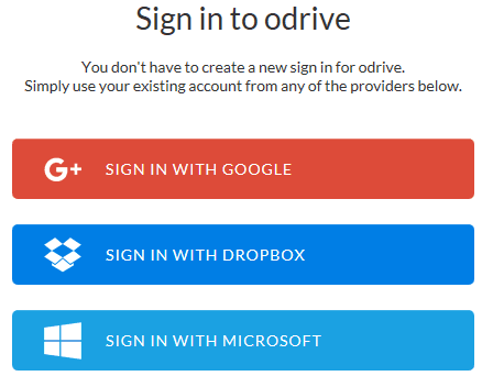 sign in to odriive