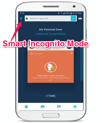 smarrt incognito mode
