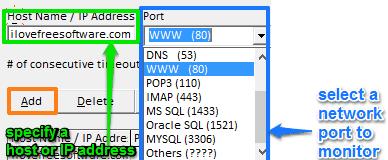 get network port timeout alert
