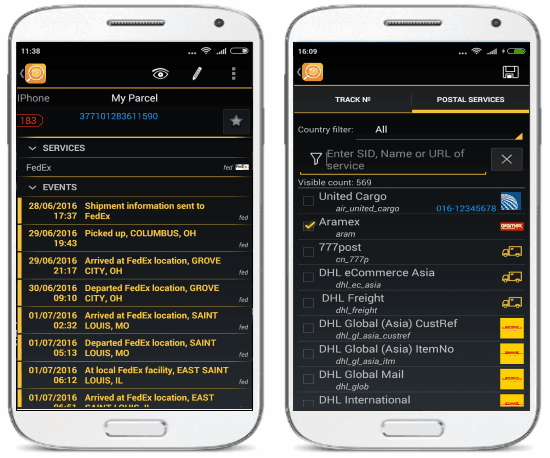trackchecker mobile
