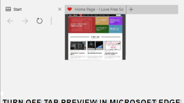 turn off tab preview in microsoft edge