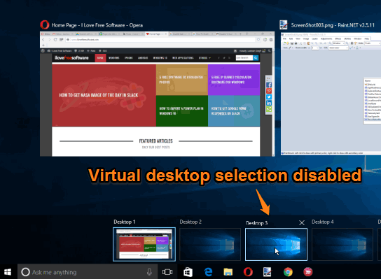 virtual desktop selection on mouse hover is disabled