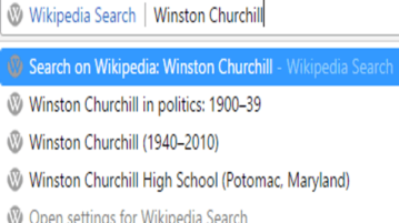 wikipedia search engine to access Wikipedia articles from Chrome address bar
