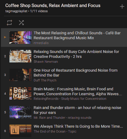 Youtube Coffee Shop Sounds