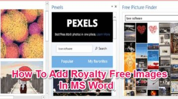 Add Royalty Free Images In MS Word featured