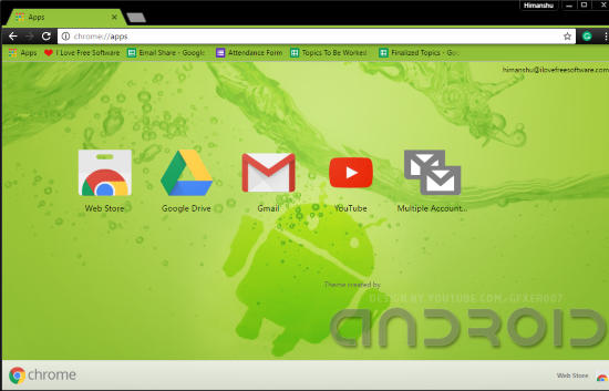 android chrome themes- android design