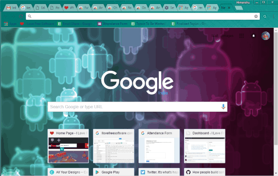 android chrome themes- android theme