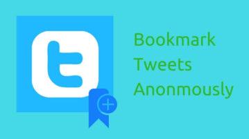 Bookmark Tweets Anonmously
