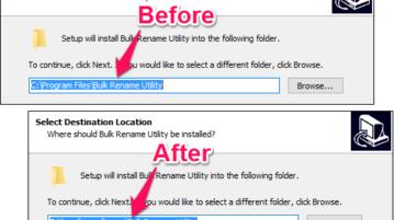 Change The Default Installation Folder In Windows
