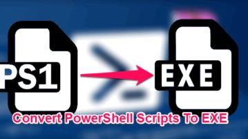 Convert PowerShell Scripts to EXE
