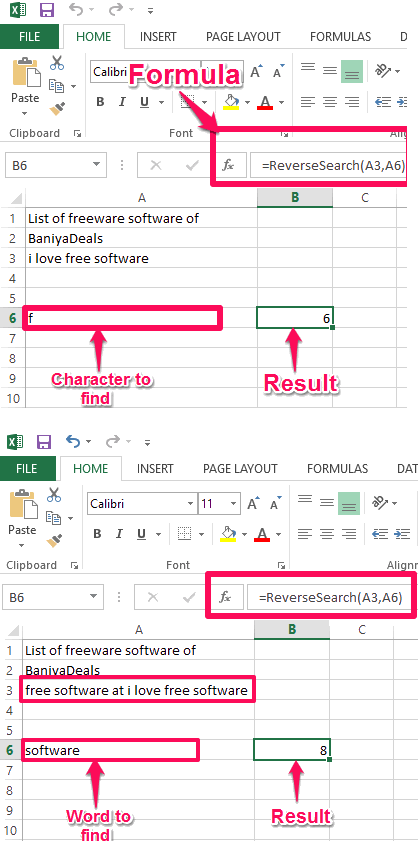 Excel reverse search using vba in action