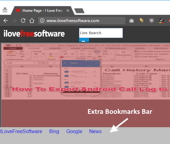 Extra Bookmarks Bar