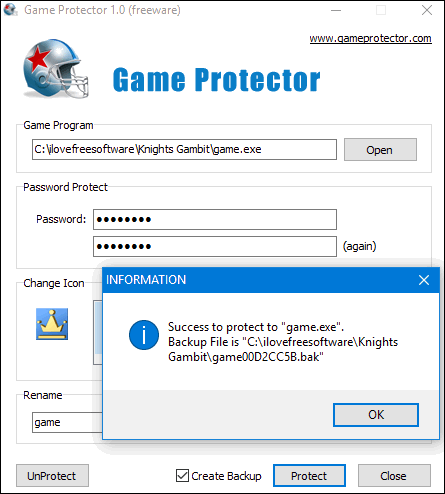Game protector in action