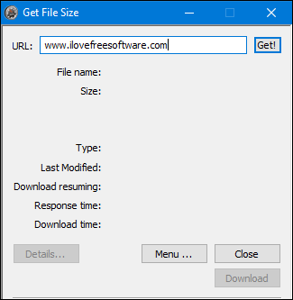 Get File Size interface