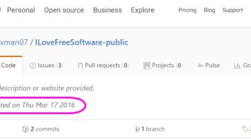GitHub Creation Date Userscript