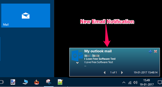 Outlook.com Notifier Software