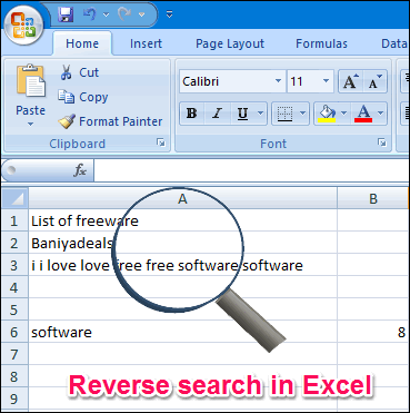 Reverse Search in Excel
