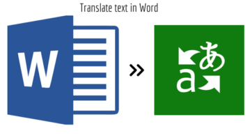 Translate text in Word