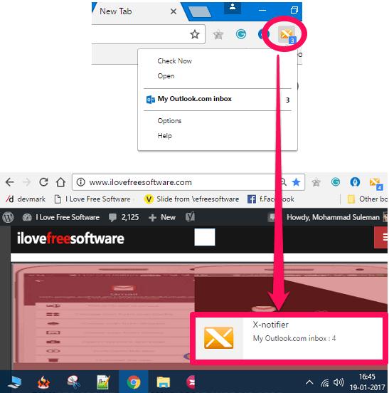 X-notifier in action