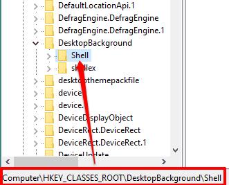 access shell registry key