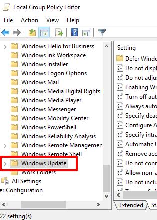access windows update folder