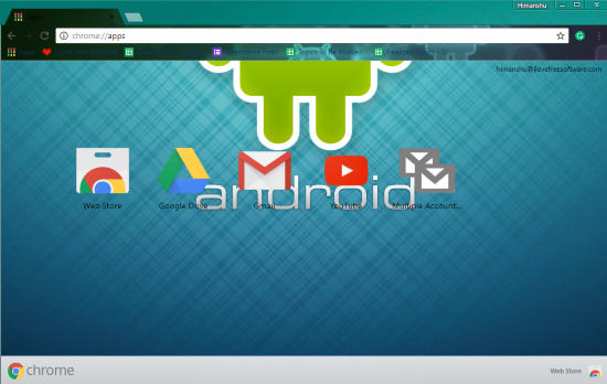 android chrome theme