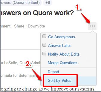 click sort by votes option