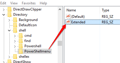 create Extended named string value