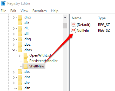 create NullFile String value