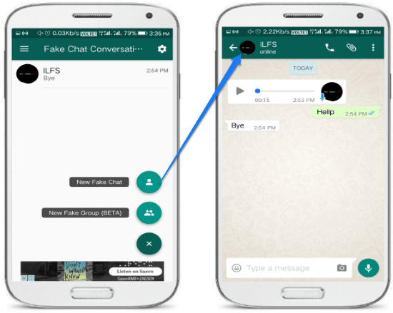create fake whatsapp chat on android- fake chat conversations