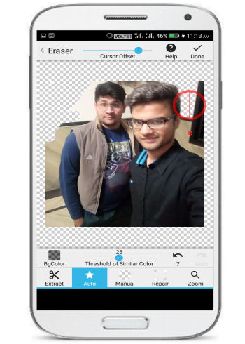 edit photo background on Android-background eraser- auto remove background by detecting pixels